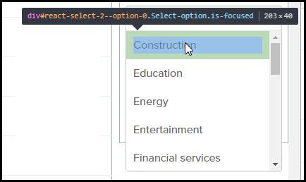 dropdown menu with script paused